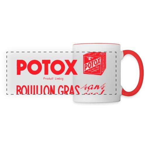 POTOX Bouillon Gras - Mug panoramique contrasté et blanc