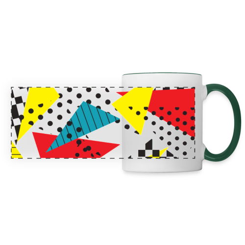 Abstract vintage collage - Panoramic Mug