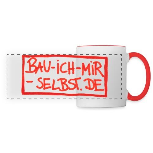 bau-ich-mir-selbst.de ROT - Panoramatasse