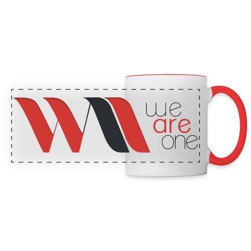 Logo WAO Complet - Mug panoramique contrasté et blanc