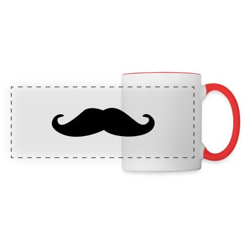 black moustache clipart - Mug panoramique contrasté et blanc