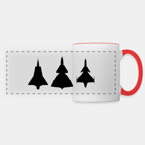 Draken / Viggen / Gripen / jet fighter - Panoramic Mug