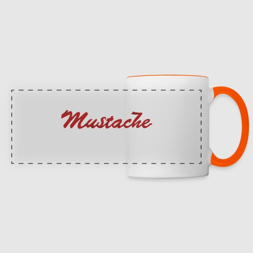 Red Mustache Lettering - Panoramic Mug