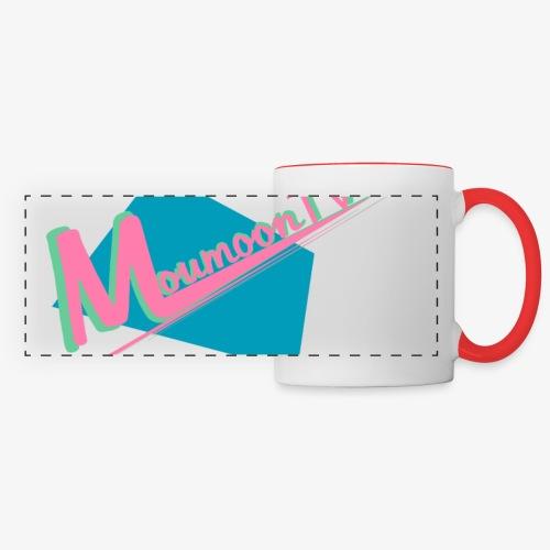 MoumoonTV logo - Mug panoramique contrasté et blanc