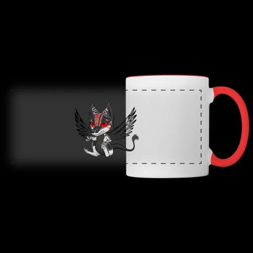 Démon Wolfire - Mug panoramique contrasté et blanc