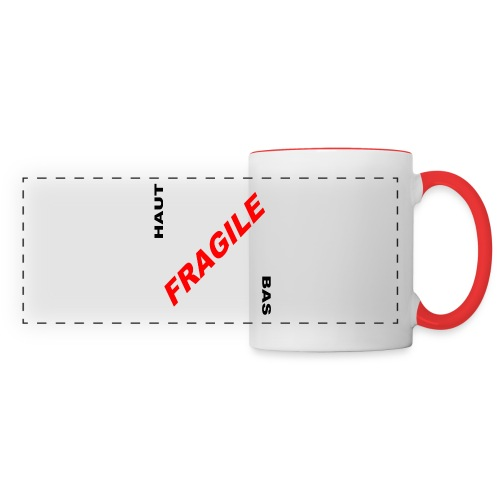 FRAGILE - Mug panoramique contrasté et blanc