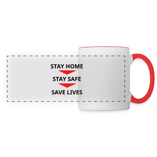 Stay home, stay safe, save lives - Taza panorámica