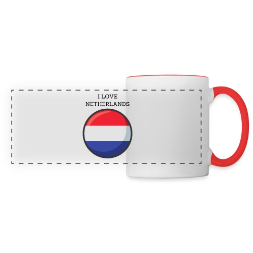 Mug Netherlands - Mug panoramique contrasté et blanc