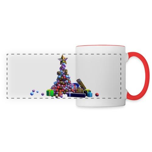 Arbre de Noel a boule avec cadeaux - Mug panoramique contrasté et blanc