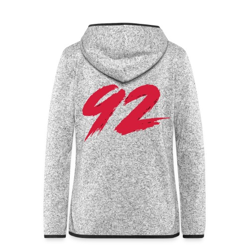 92 Logo 1 - Frauen Kapuzen-Fleecejacke
