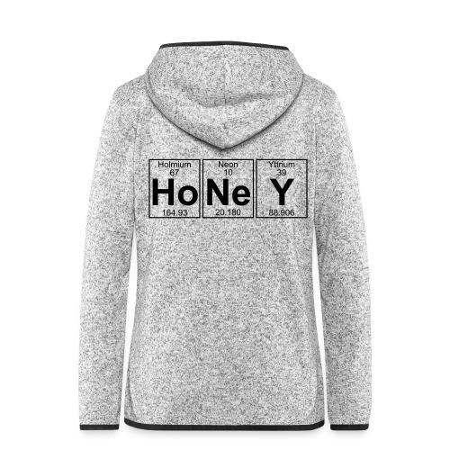 Ho-Ne-Y (honey) - Full - Women's Hooded Fleece Jacket