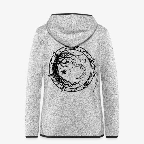 Tree of Life - Women's Hooded Fleece Jacket