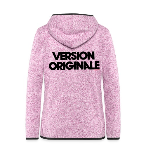 Version Original - Veste à capuche polaire pour femmes
