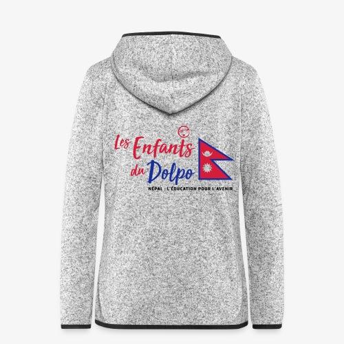 Les Enfants du Doplo - Grand Logo Centré - Veste à capuche polaire pour femmes