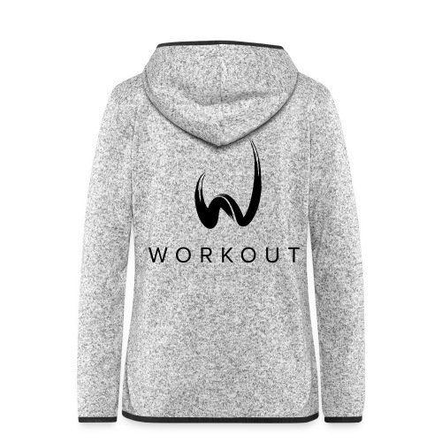 Workout - Frauen Kapuzen-Fleecejacke