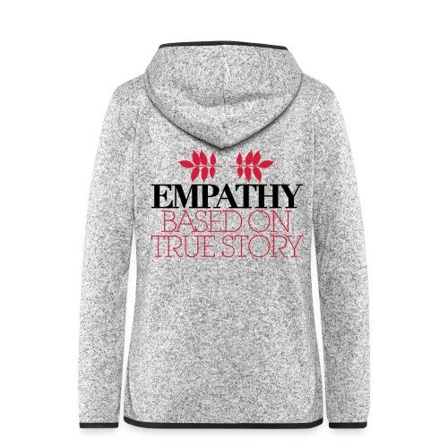 empathy story - Bluza polarowa damska z kapturem
