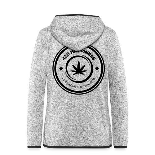 420_Happiness_logo - Dame hætte-fleecejakke