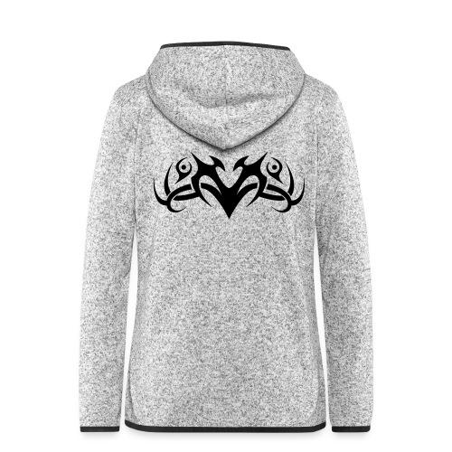 Motif Tribal 8 - Veste à capuche polaire pour femmes