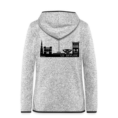 Lu skyline de Terni - Giacca di pile con cappuccio da donna