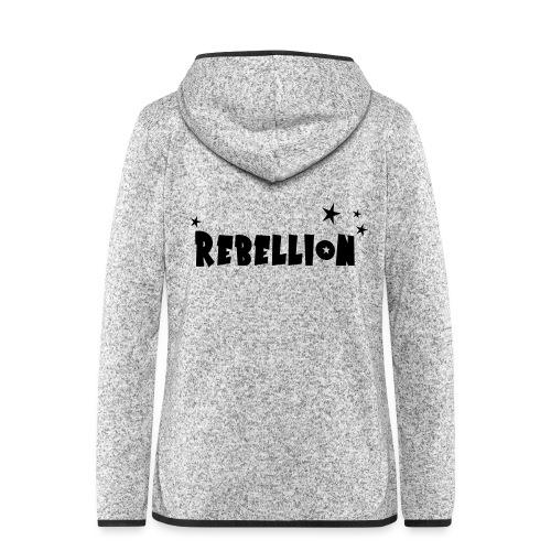 Rebellion - Frauen Kapuzen-Fleecejacke