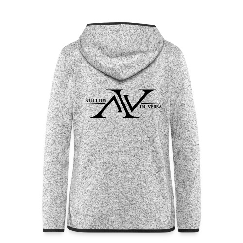 Nullius In Verba Logo - Women's Hooded Fleece Jacket