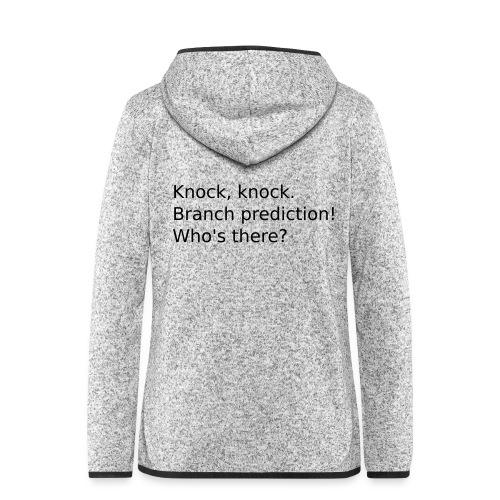 knock-knock-meltdown - Frauen Kapuzen-Fleecejacke