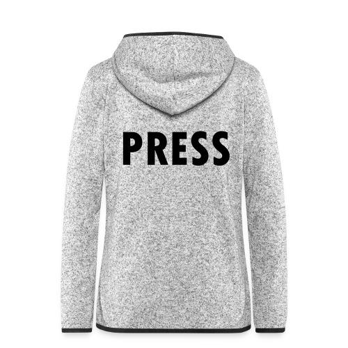 press - Frauen Kapuzen-Fleecejacke