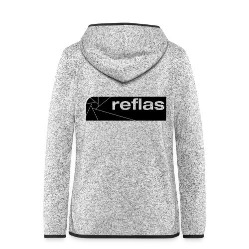 Reflas Clothing Black/Gray - Giacca di pile con cappuccio da donna