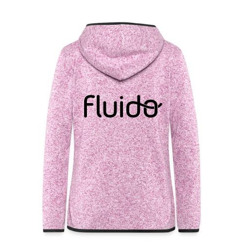 fluidologo_musta - Naisten hupullinen fleecetakki