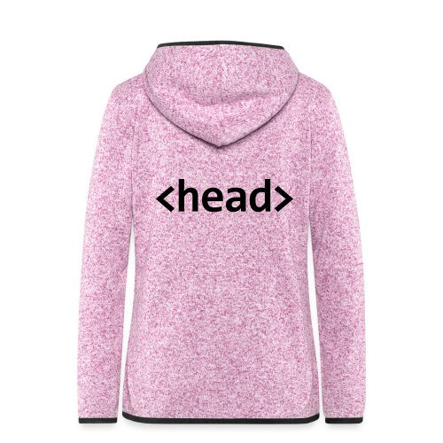 head (beanie) (subtle) - Women's Hooded Fleece Jacket