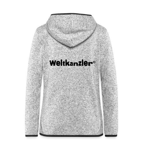 Weltkanzler® Männer Vintage T-Shirt - Frauen Kapuzen-Fleecejacke
