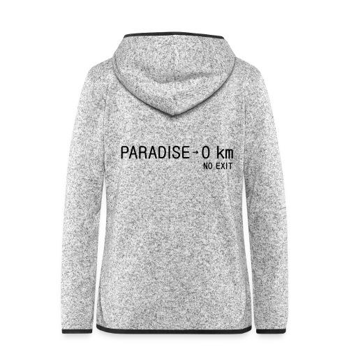 paradise0km - Frauen Kapuzen-Fleecejacke