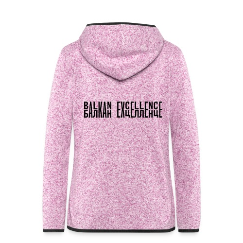 Balkan eXellence horizontal - Women's Hooded Fleece Jacket
