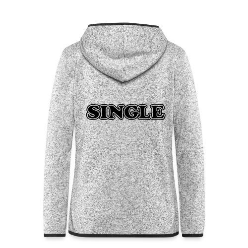 single - Vrouwen hoodie fleecejack