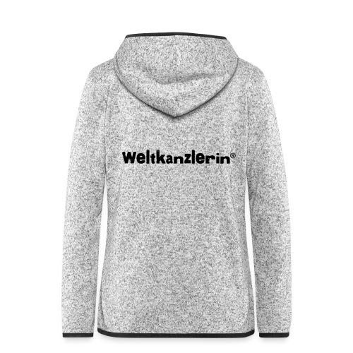 Weltkanzlerin® Frauen Premium T-Shirt - Frauen Kapuzen-Fleecejacke