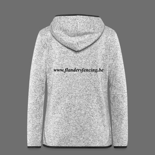 wwww.flandersfencing.be - Vrouwen hoodie fleecejack