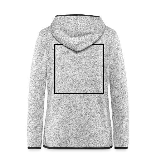 Square t shirt black - Vrouwen hoodie fleecejack