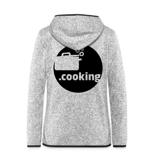 dot.cooking motiv kochtopf | gestalte selber dein - Frauen Kapuzen-Fleecejacke
