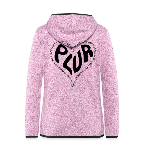 PLUR Peace Love Unity & Respect ravers mantra in a - Women's Hooded Fleece Jacket