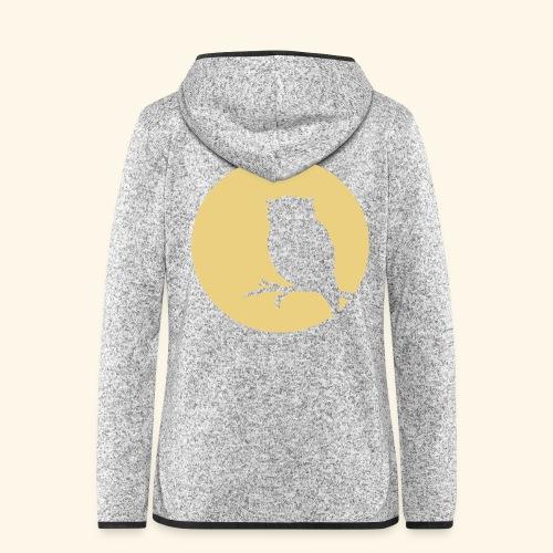 Moon owl - Frauen Kapuzen-Fleecejacke