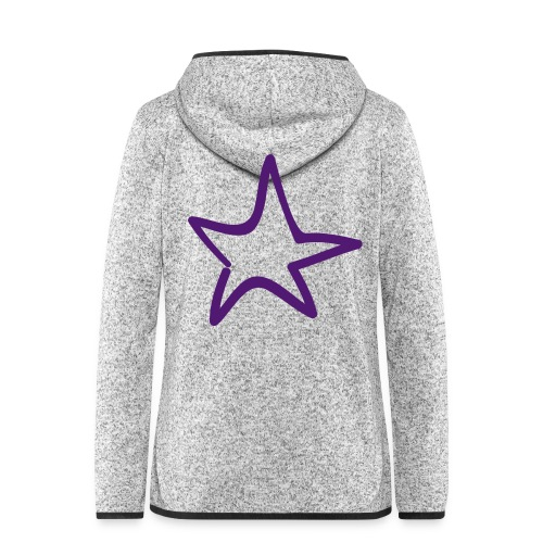 Star Outline Pixellamb - Frauen Kapuzen-Fleecejacke