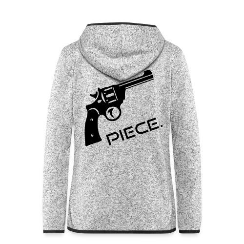 Waffe - Piece - Frauen Kapuzen-Fleecejacke