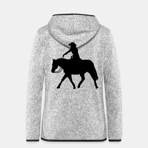 Ranch Riding extendet Trot - Frauen Kapuzen-Fleecejacke