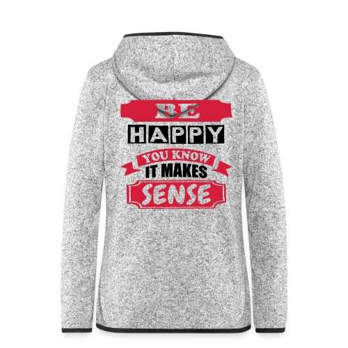 Be Happy - Women's Hooded Fleece Jacket
