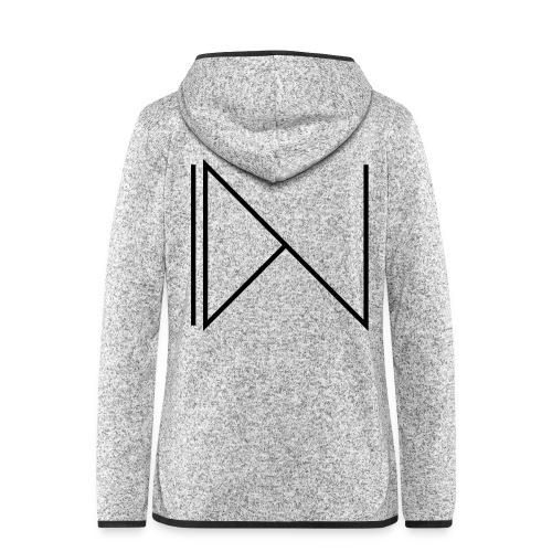 Icon on sleeve - Vrouwen hoodie fleecejack