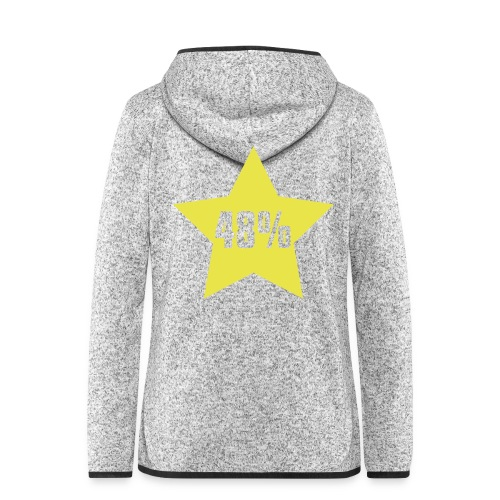 48% in Star - Women's Hooded Fleece Jacket