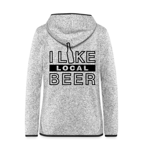I Like Local Beer (swity) - Frauen Kapuzen-Fleecejacke