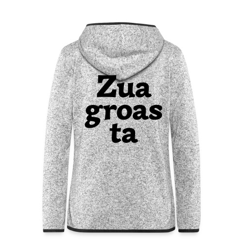 Zuagroasta - Frauen Kapuzen-Fleecejacke