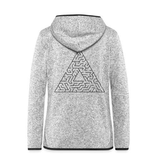 Triangle Maze - Women's Hooded Fleece Jacket