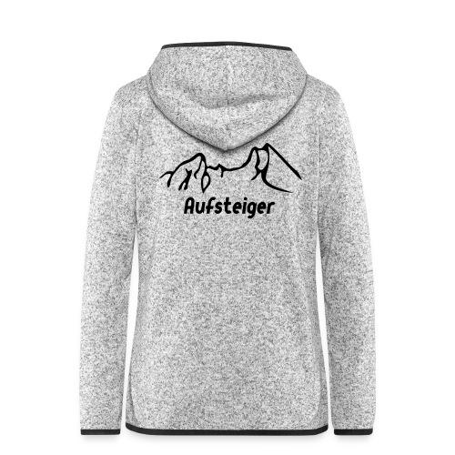 Bergsteiger Shirt - Frauen Kapuzen-Fleecejacke